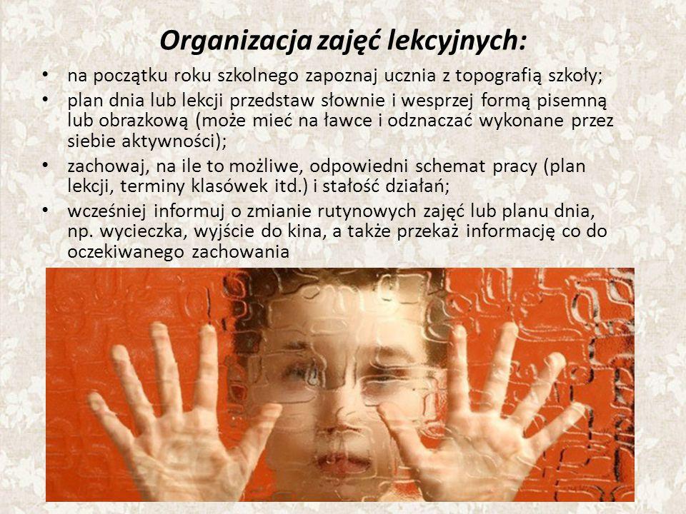 Organizacja zajęć lekcyjnych: