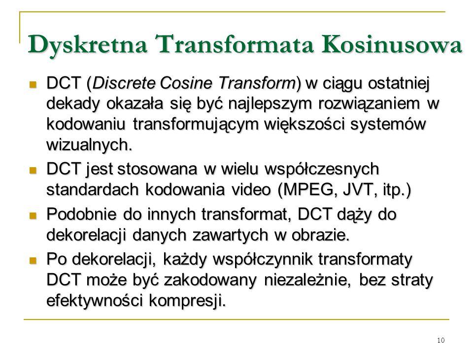 Dyskretna Transformata Kosinusowa