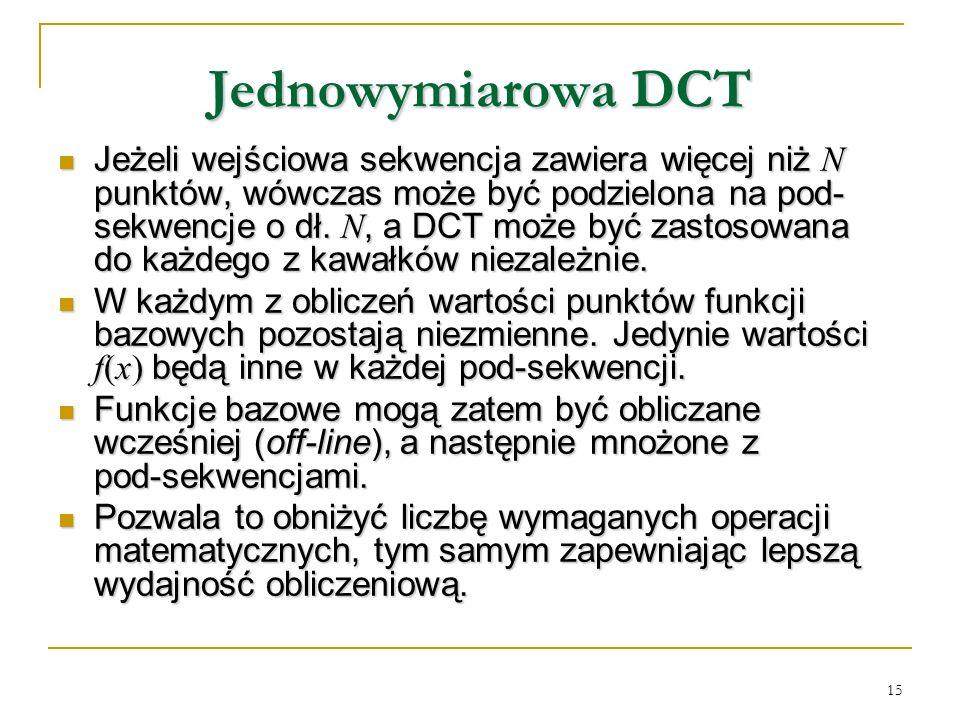 Jednowymiarowa DCT