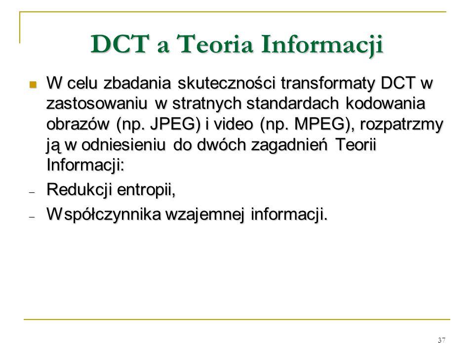DCT a Teoria Informacji