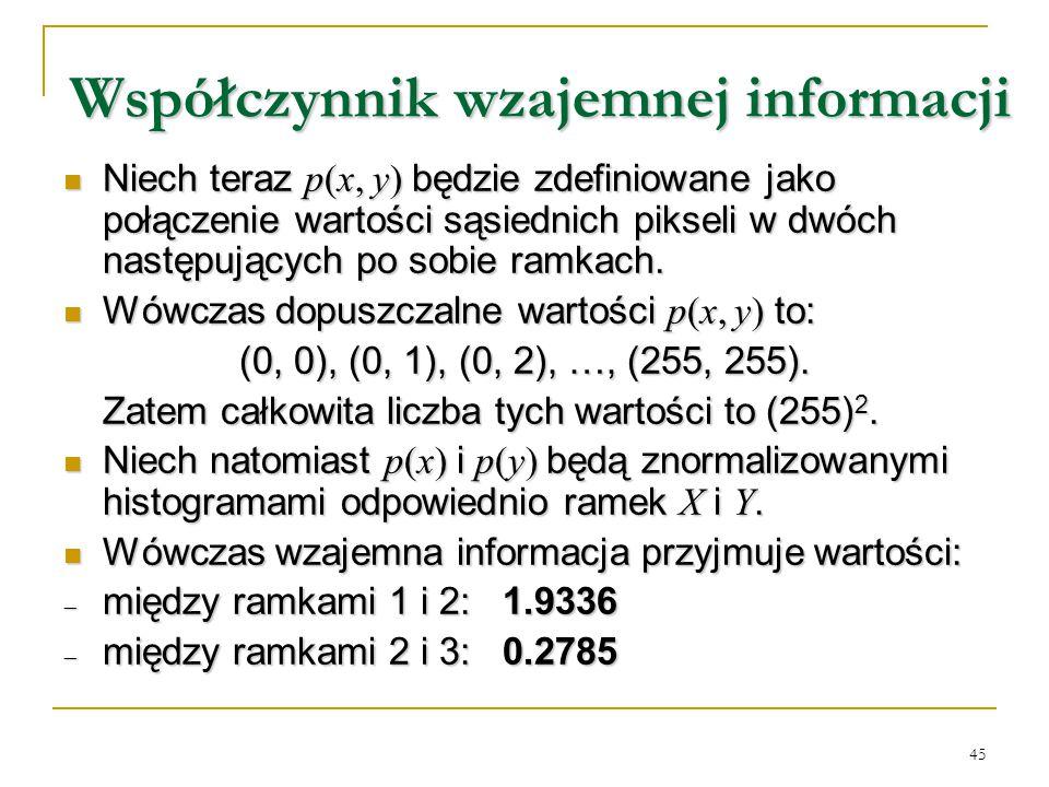 Współczynnik wzajemnej informacji