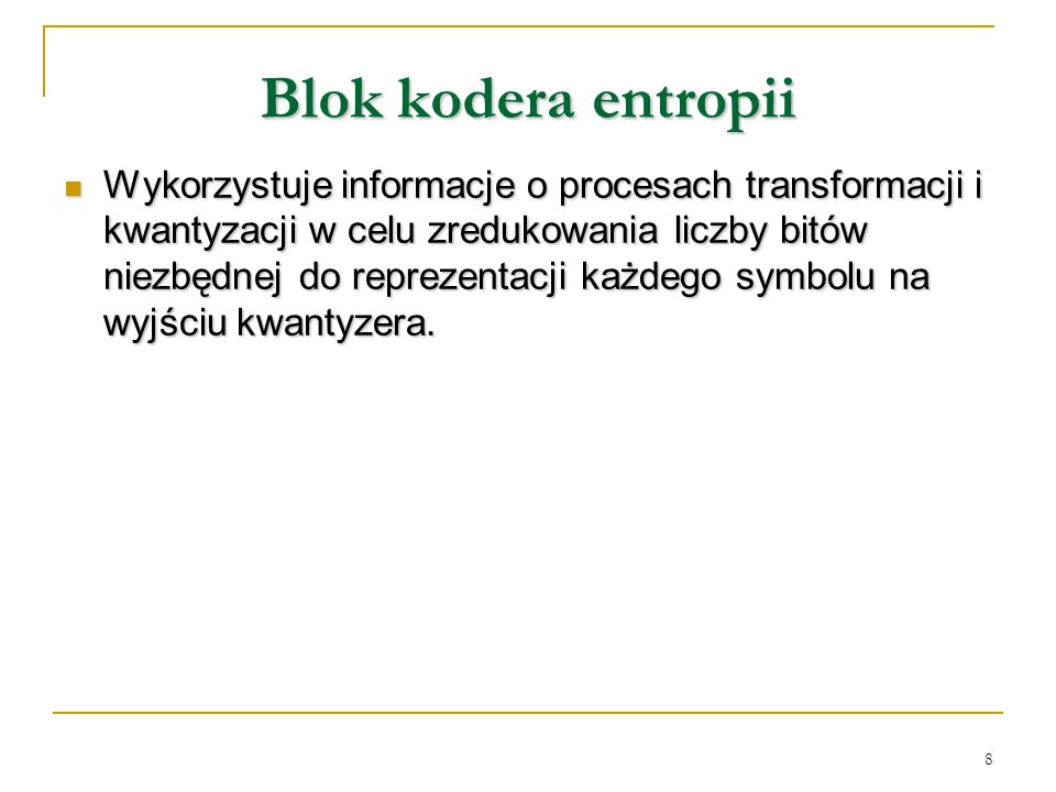 Blok kodera entropii