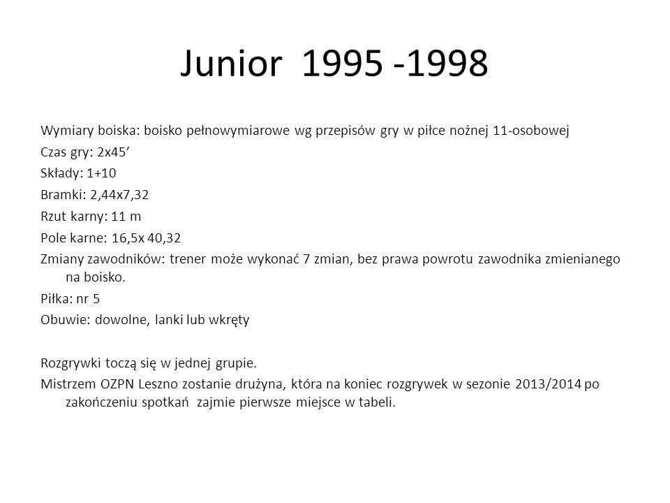 Junior 1995 -1998