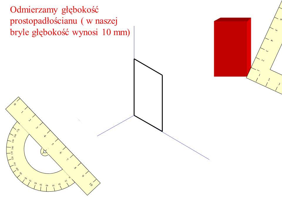 prostopadłościanu ( w naszej bryle głębokość wynosi 10 mm)