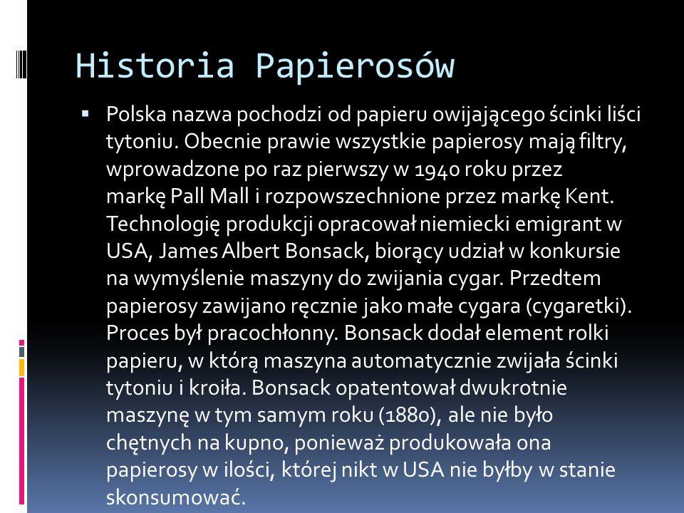 Historia Papierosów
