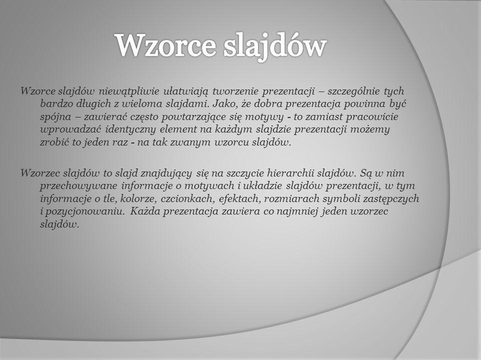 Wzorce slajdów