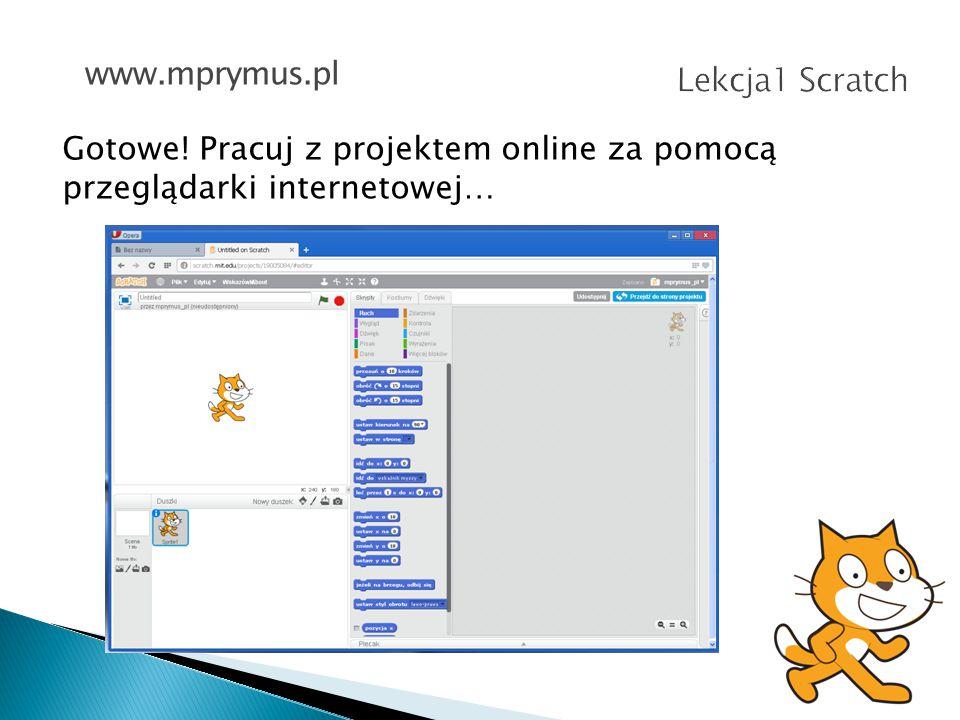 Lekcja1 Scratch www.mprymus.pl