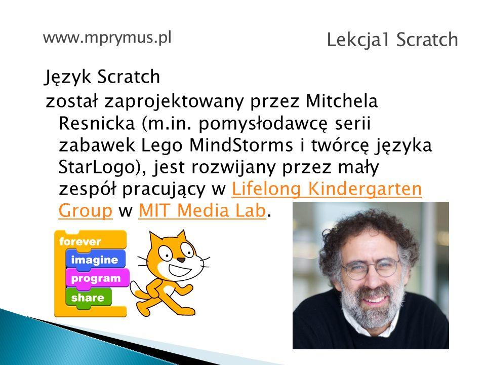 www.mprymus.pl Lekcja1 Scratch.