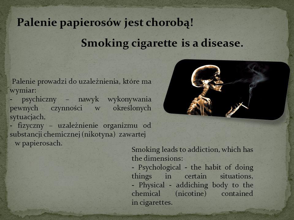 Palenie papierosów jest chorobą!