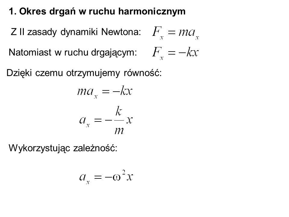1. Okres drgań w ruchu harmonicznym