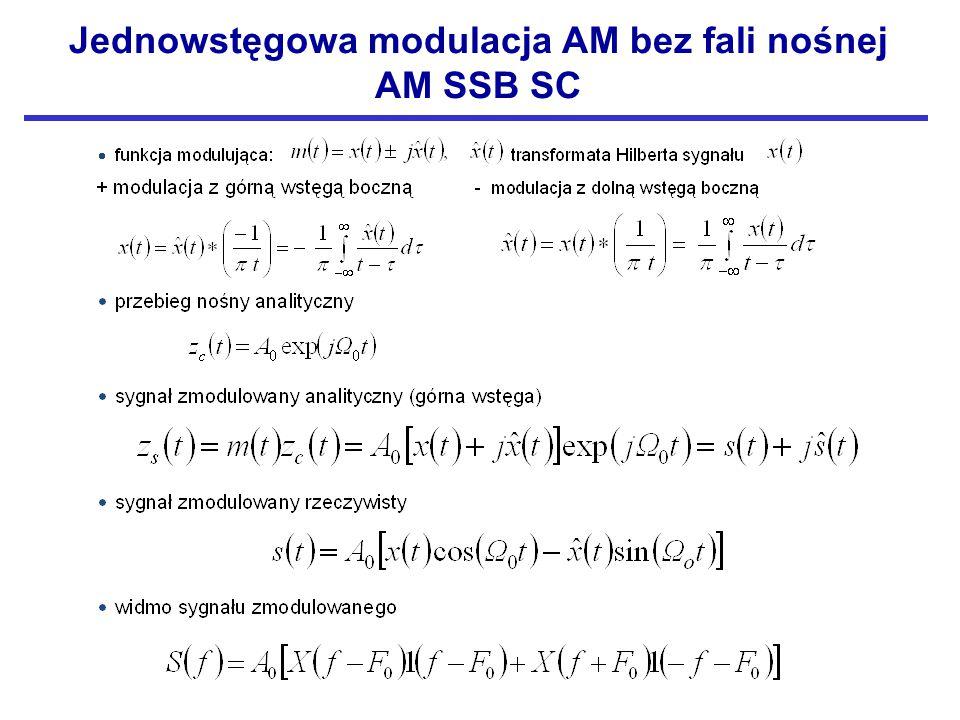 Jednowstęgowa modulacja AM bez fali nośnej
