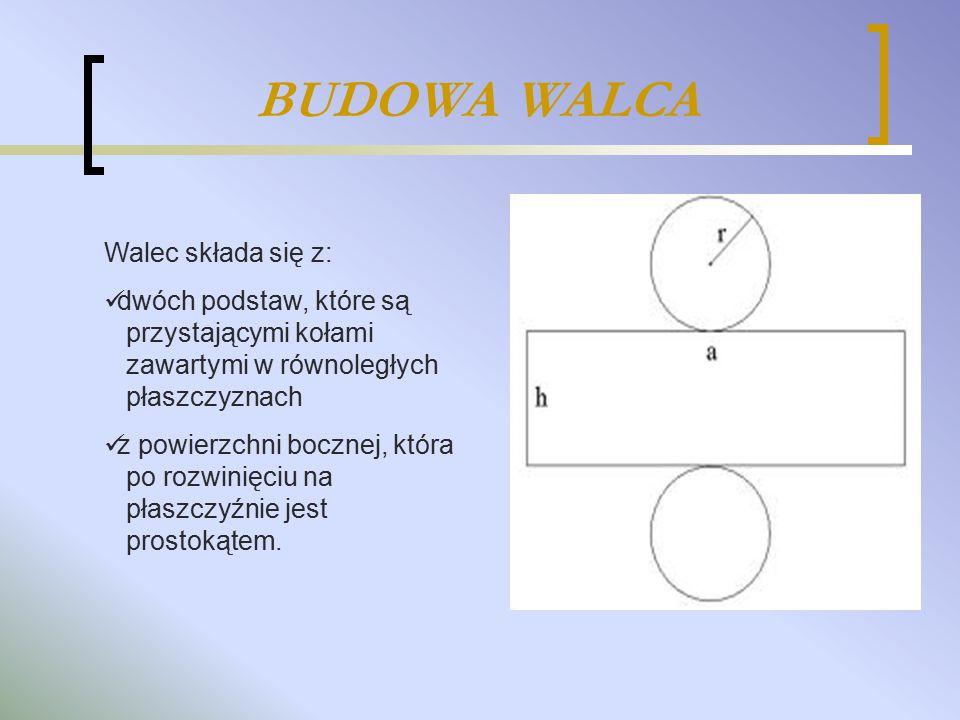 BUDOWA WALCA Walec składa się z: