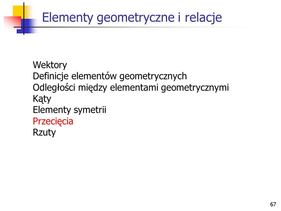 Elementy geometryczne i relacje