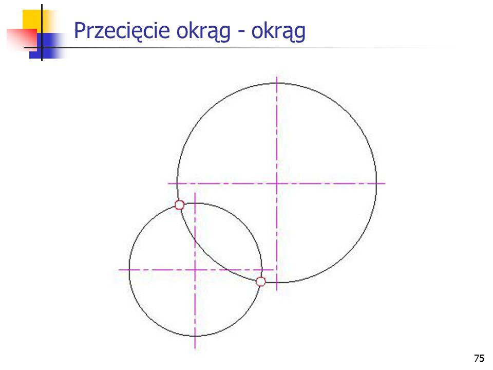 Przecięcie okrąg - okrąg