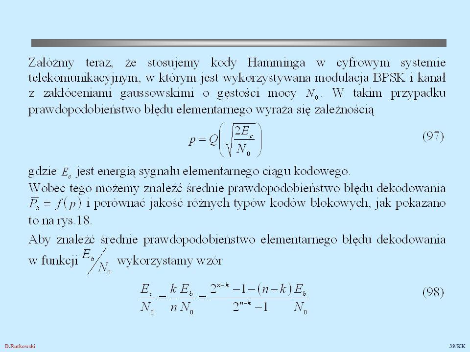 Rys.18. Średnie prawdopodobieństwo elementarnego błędu dekodowania