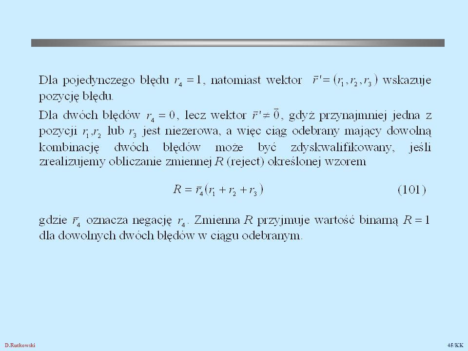 Rys.20. Dekoder rozszerzonego kodu Hamminga (8,4)