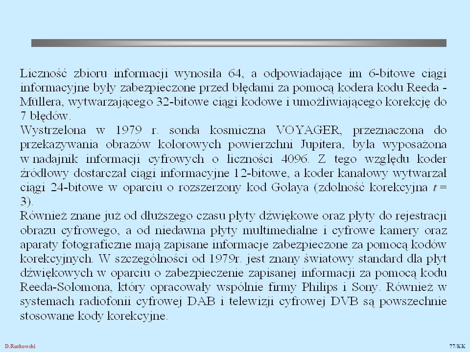 24.2. Przykłady zastosowań kodów detekcyjnych