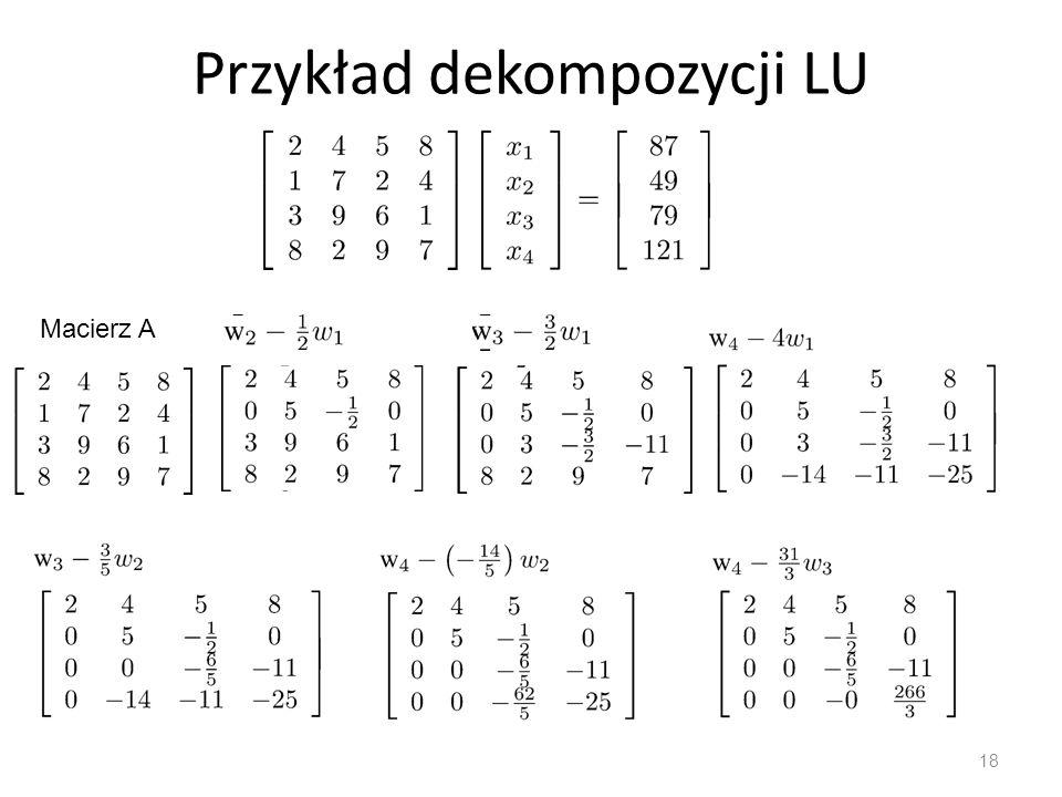 Przykład dekompozycji LU