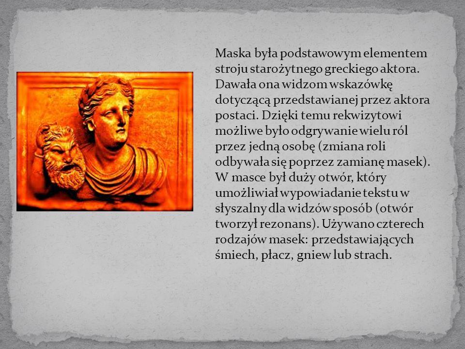 Maska była podstawowym elementem stroju starożytnego greckiego aktora