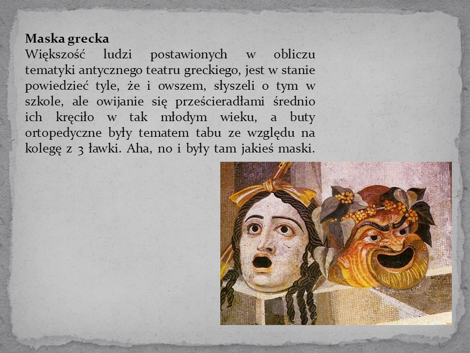 Maska grecka