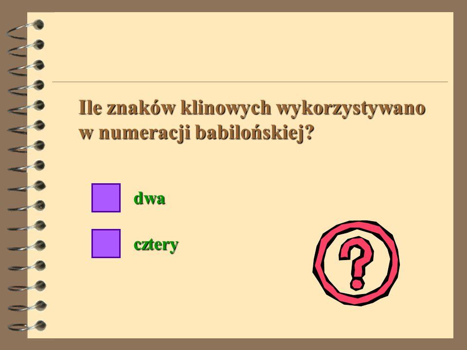Ile znaków klinowych wykorzystywano w numeracji babilońskiej