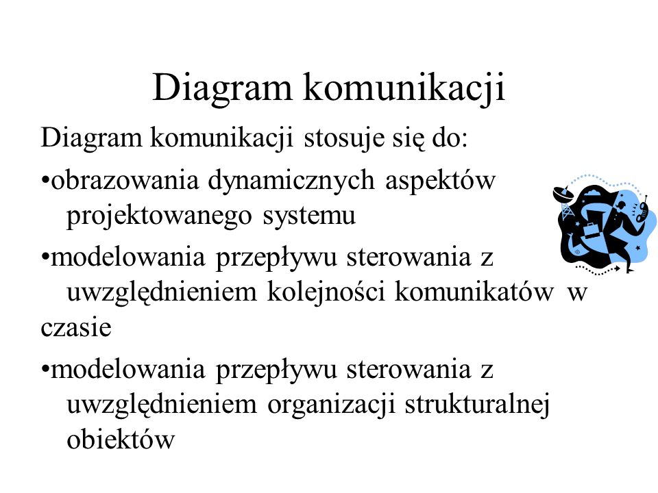 Diagram komunikacji Diagram komunikacji stosuje się do: