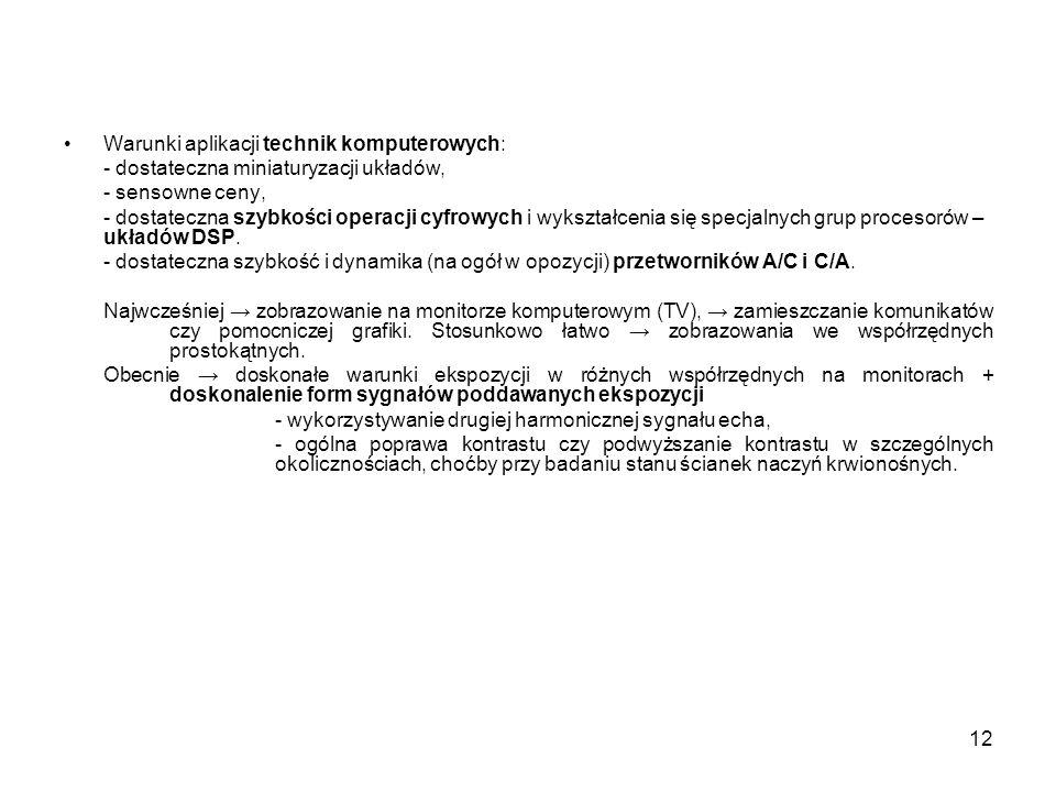 Warunki aplikacji technik komputerowych: