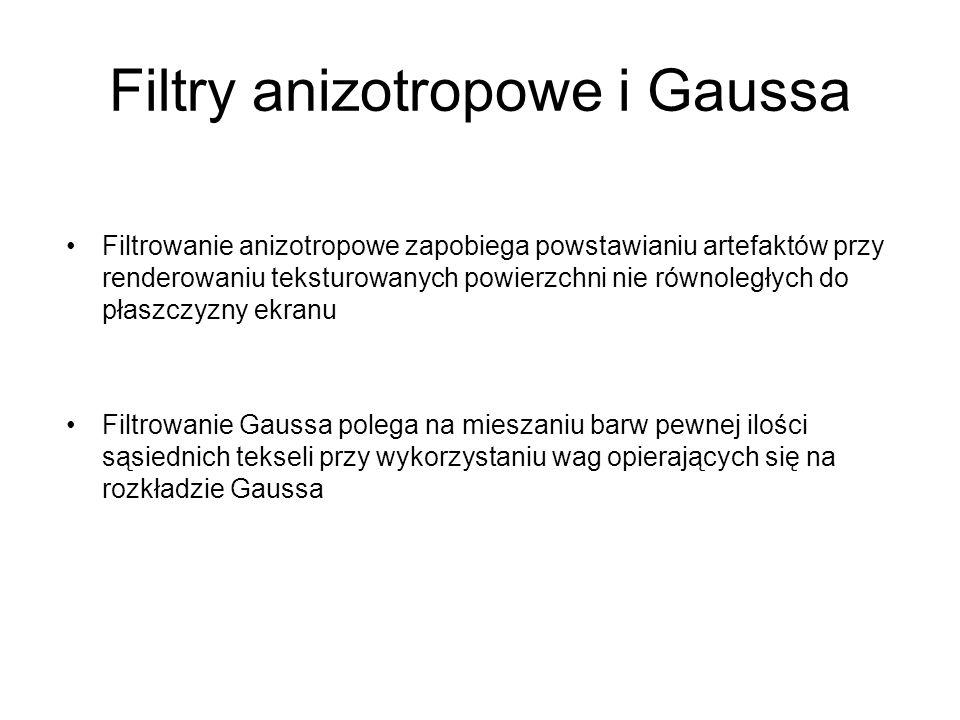 Filtry anizotropowe i Gaussa