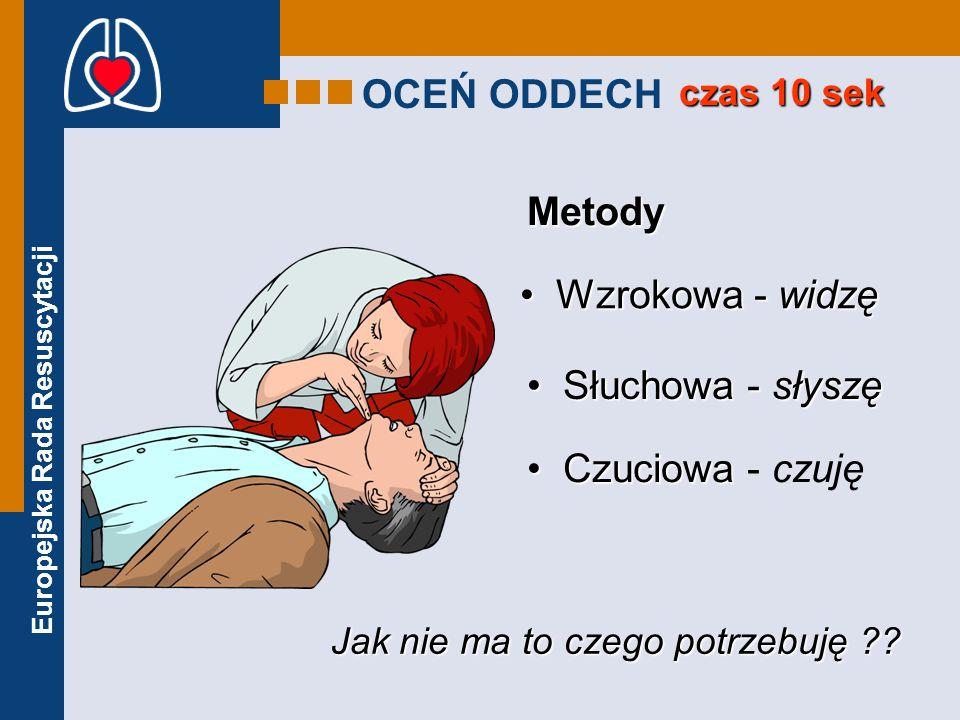 OCEŃ ODDECH Metody Wzrokowa - widzę Słuchowa - słyszę Czuciowa - czuję