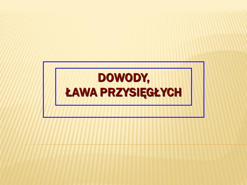 DOWODY, ŁAWA PRZYSIĘGŁYCH