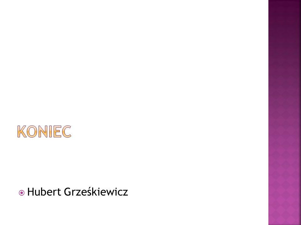 Koniec Hubert Grześkiewicz