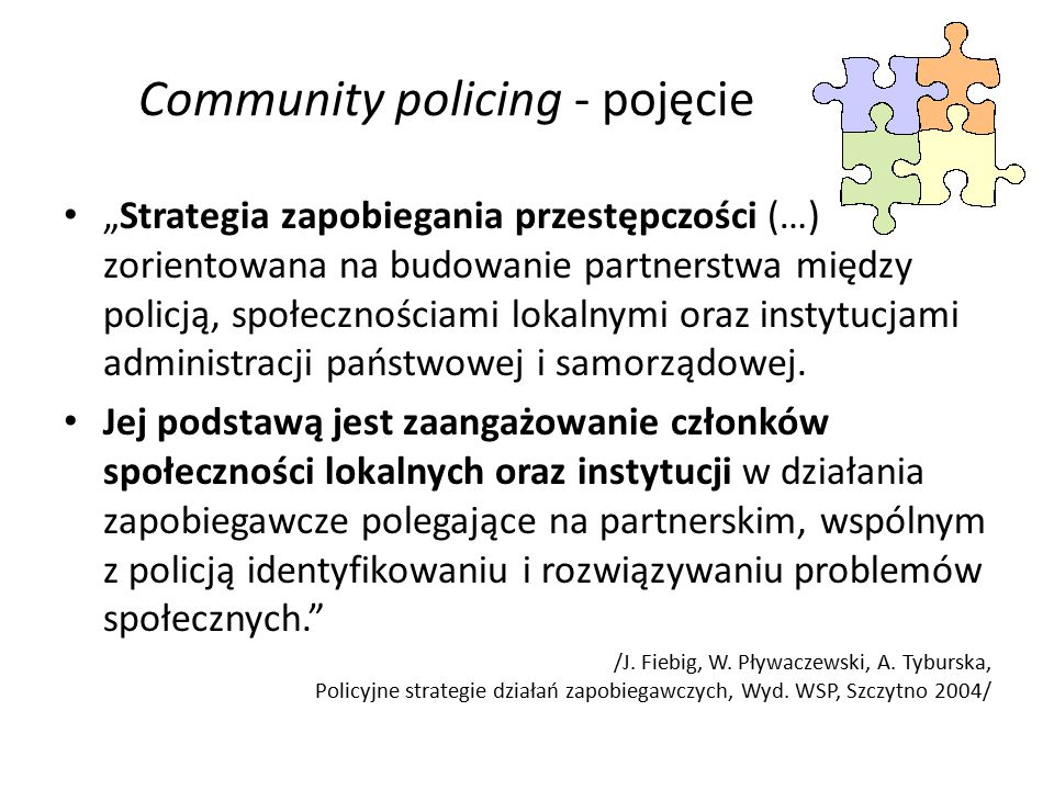 Community policing - pojęcie