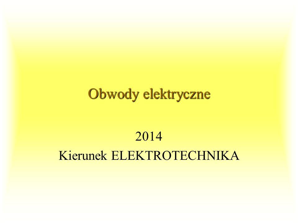 2014 Kierunek ELEKTROTECHNIKA