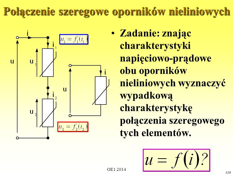 Połączenie szeregowe oporników nieliniowych