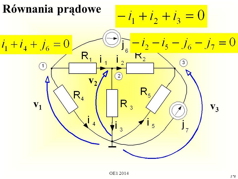 Równania prądowe v1 v3 v2 OE1 2014