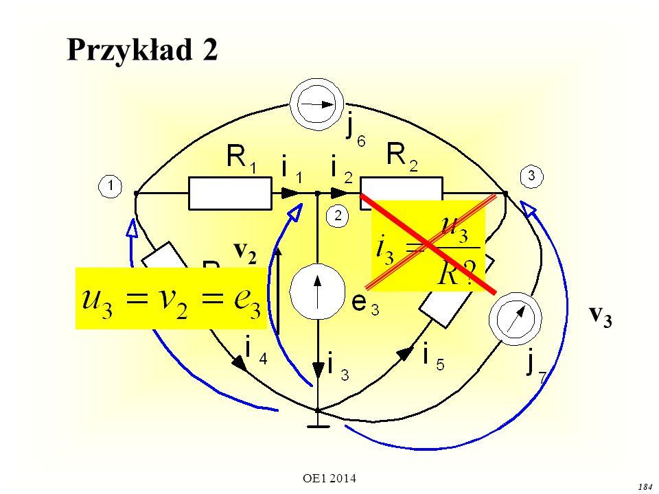 Przykład 2 v2 v1 v3 OE1 2014