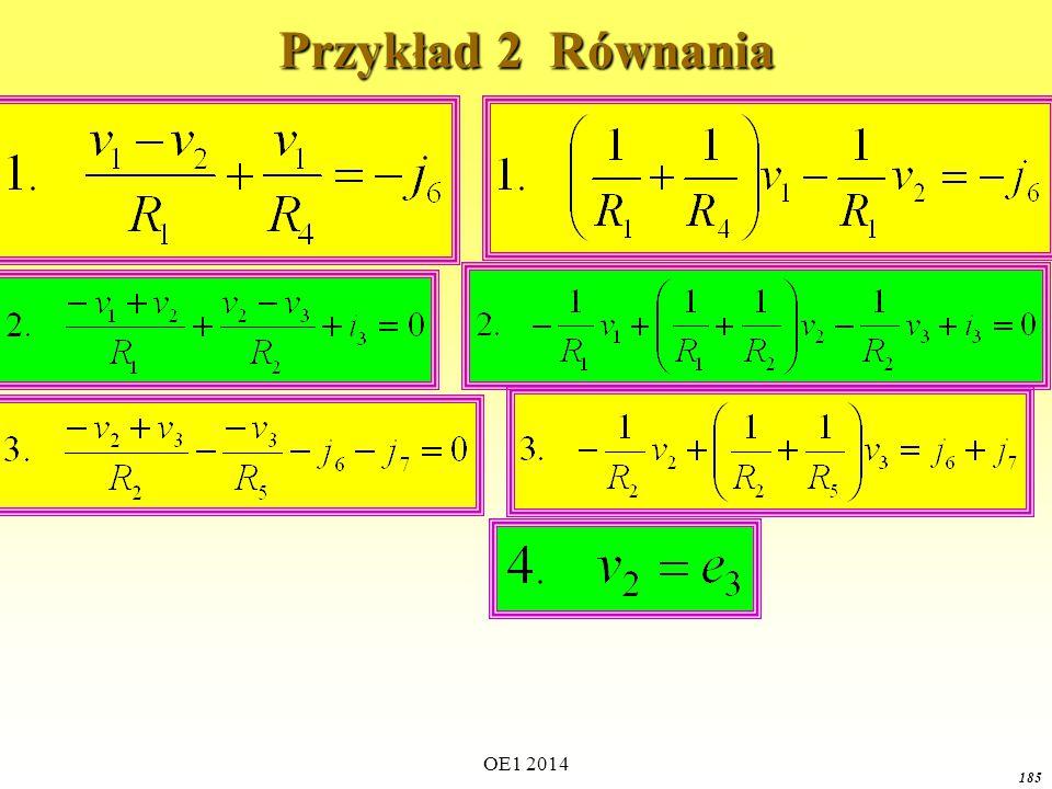 Przykład 2 Równania OE1 2014