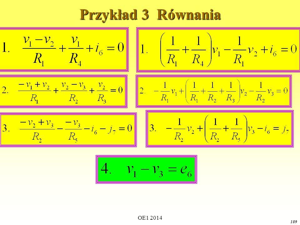 Przykład 3 Równania OE1 2014