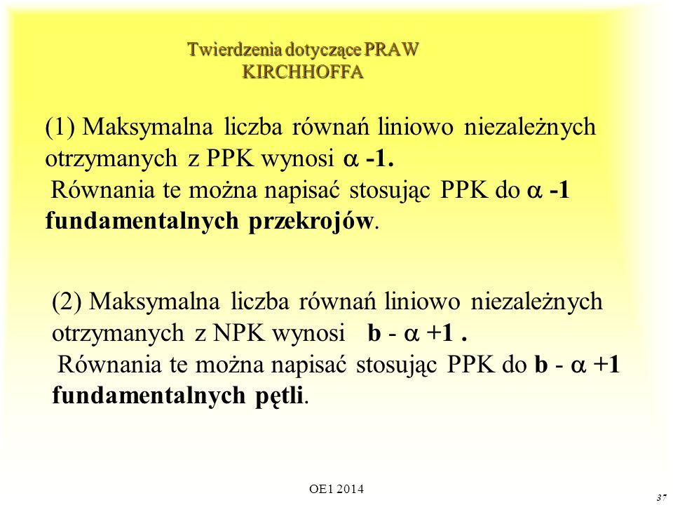 Twierdzenia dotyczące PRAW KIRCHHOFFA