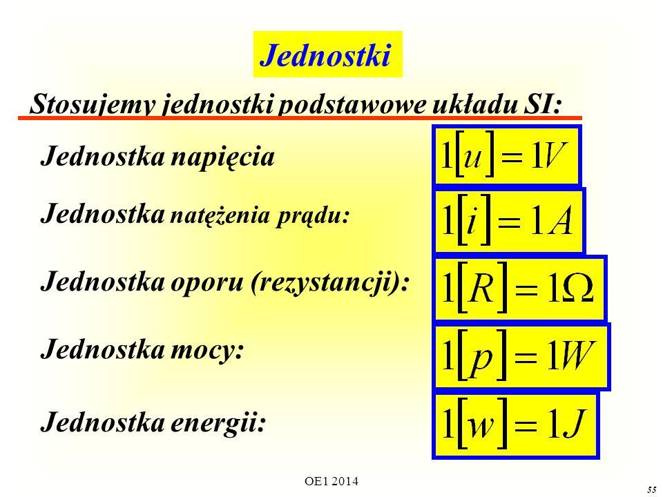 Jednostki Stosujemy jednostki podstawowe układu SI: Jednostka napięcia