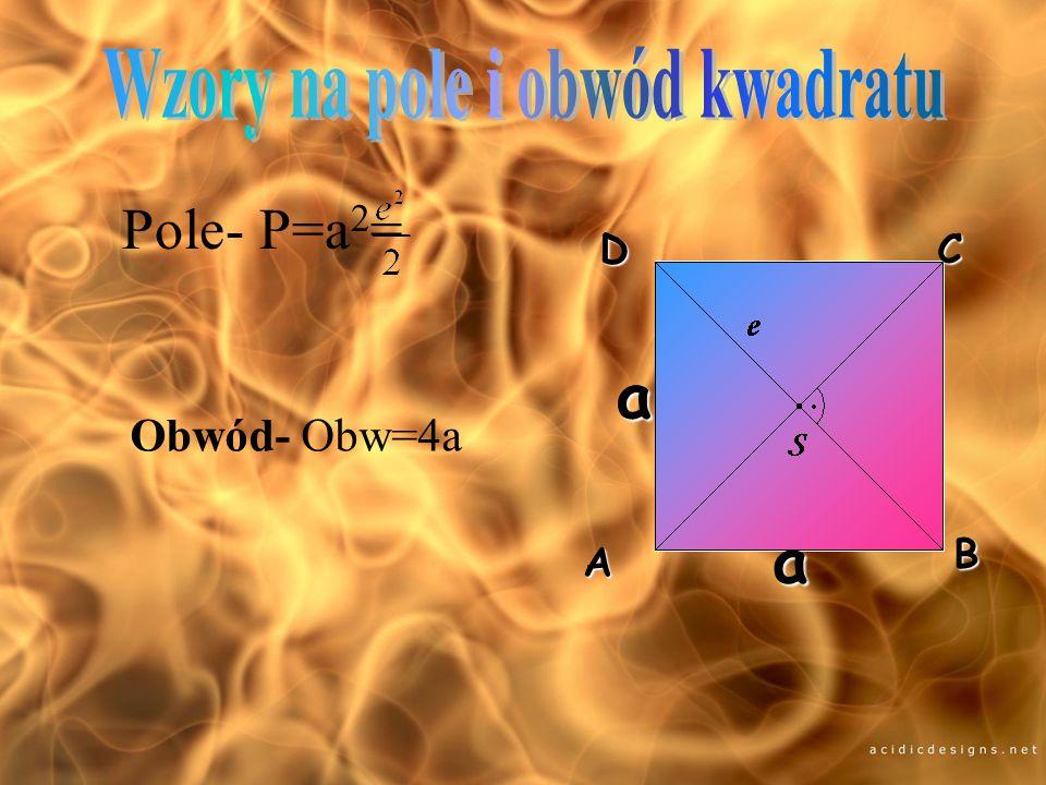 Wzory na pole i obwód kwadratu