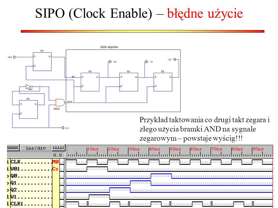 SIPO (Clock Enable) – błędne użycie