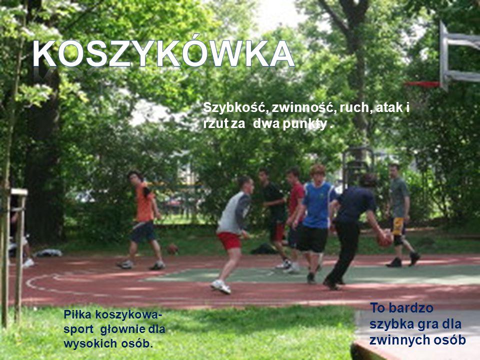 Koszykówka Szybkość, zwinność, ruch, atak i rzut za dwa punkty .