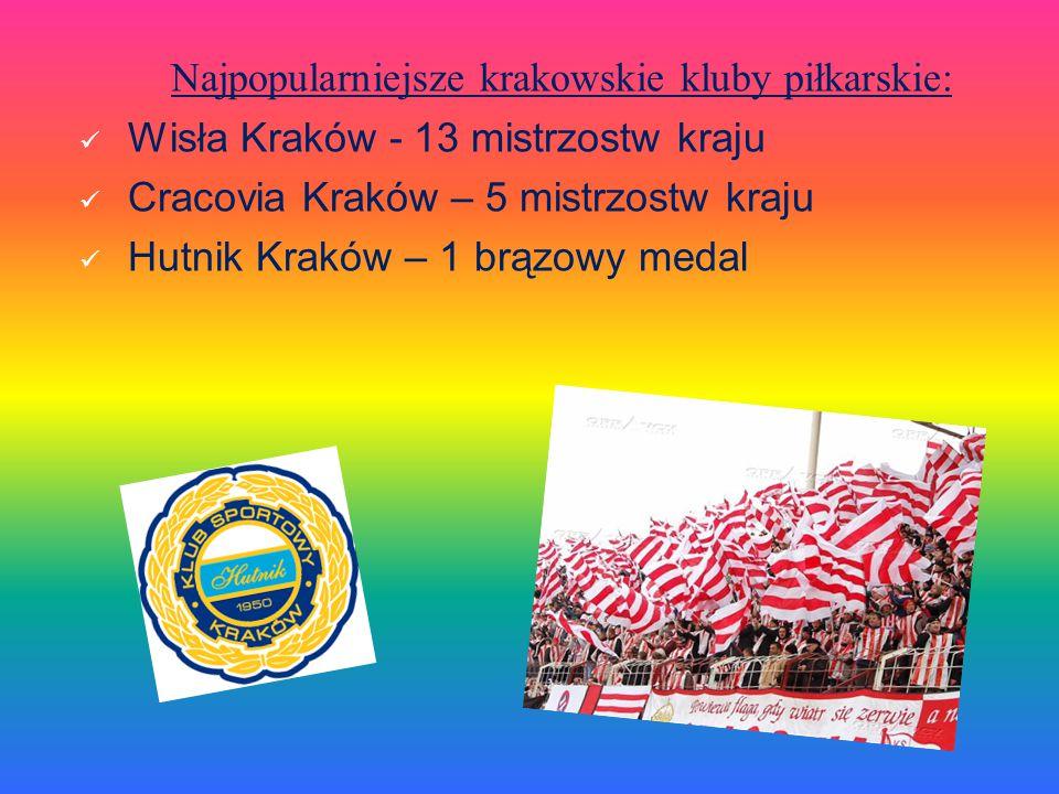 Najpopularniejsze krakowskie kluby piłkarskie: