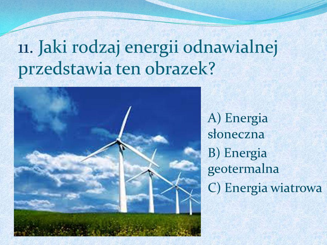 11. Jaki rodzaj energii odnawialnej przedstawia ten obrazek
