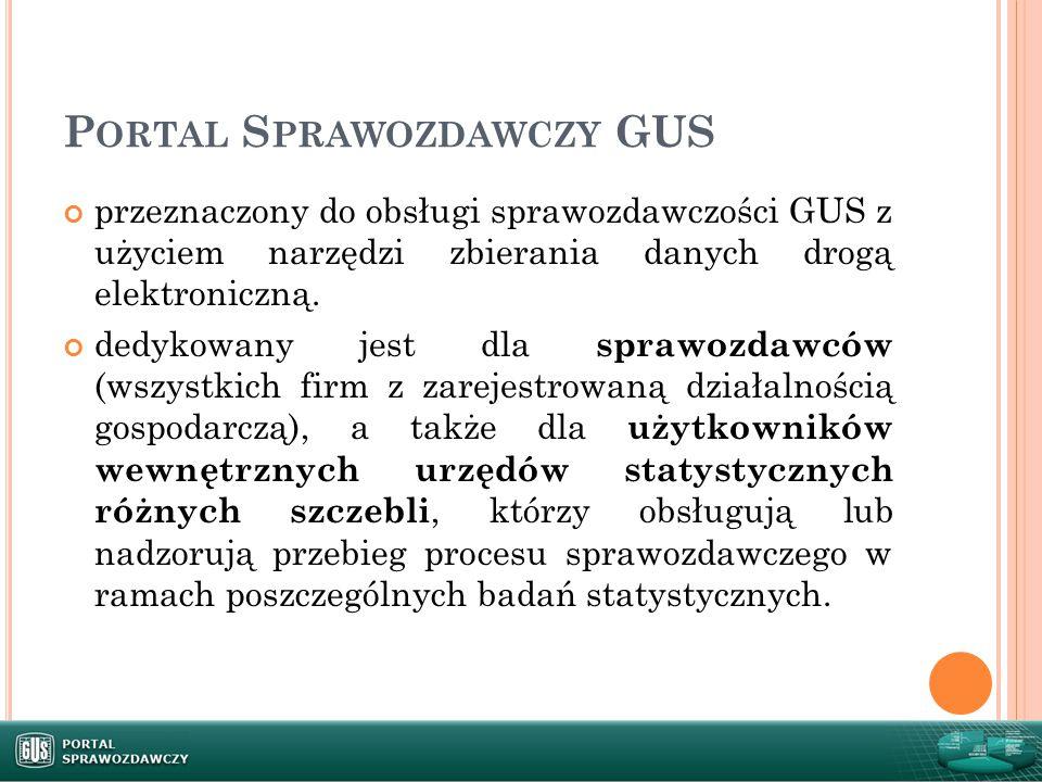 Portal Sprawozdawczy GUS