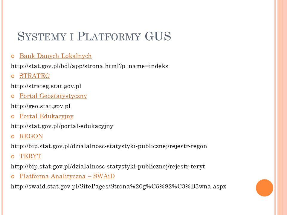 Systemy i Platformy GUS