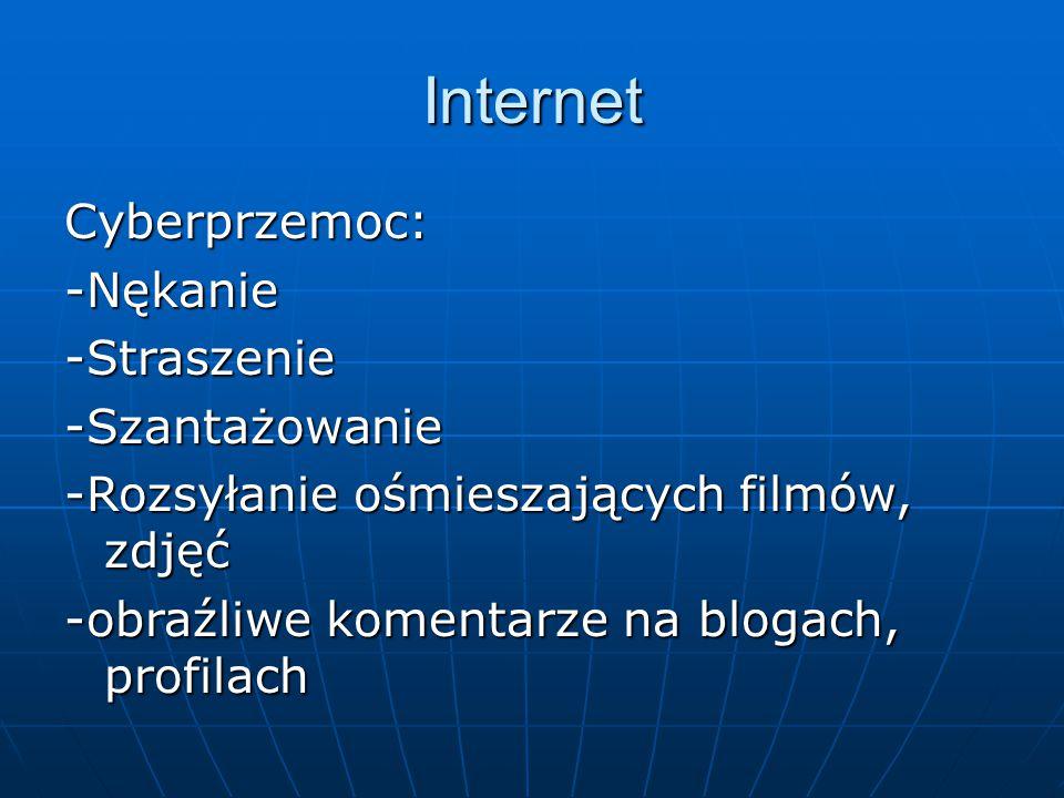 Internet Cyberprzemoc: -Nękanie -Straszenie -Szantażowanie