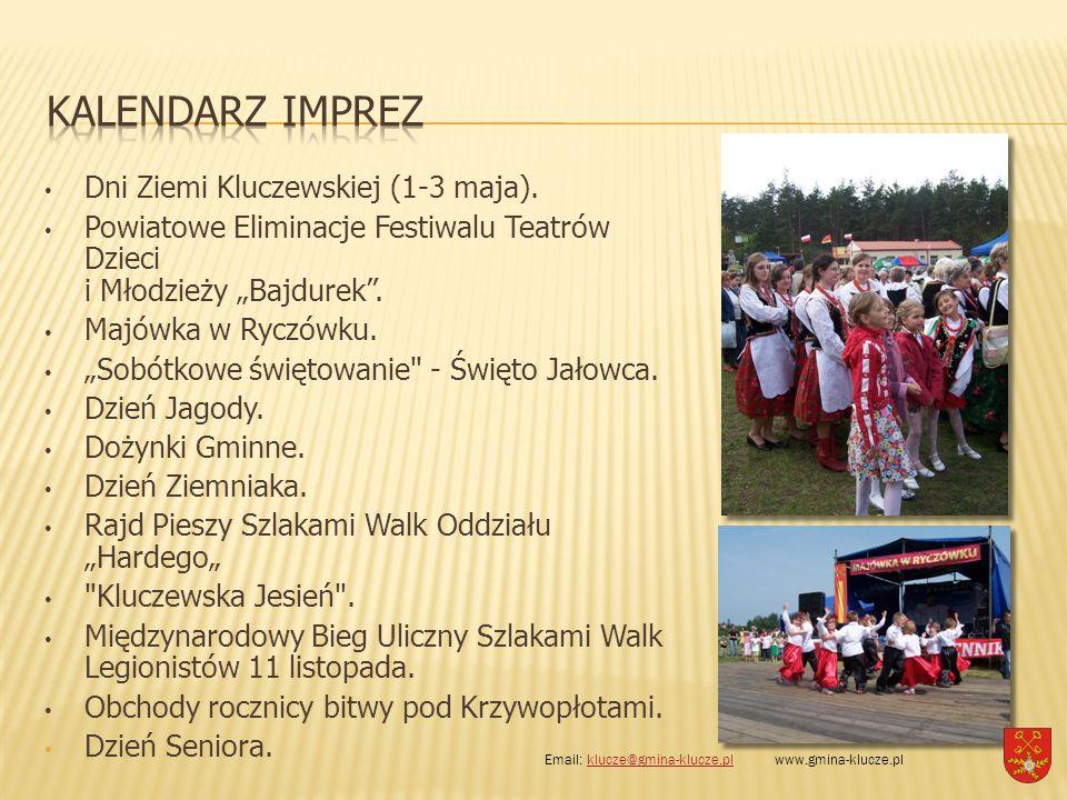 KALENDARZ IMPREZ Dni Ziemi Kluczewskiej (1-3 maja).