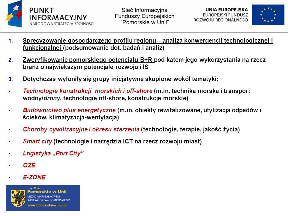 Sprecyzowanie gospodarczego profilu regionu – analiza konwergencji technologicznej i funkcjonalnej (podsumowanie dot. badań i analiz)